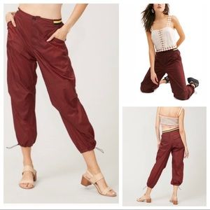 Free People Joggers Nylon Ripple Pants w/ Pockets